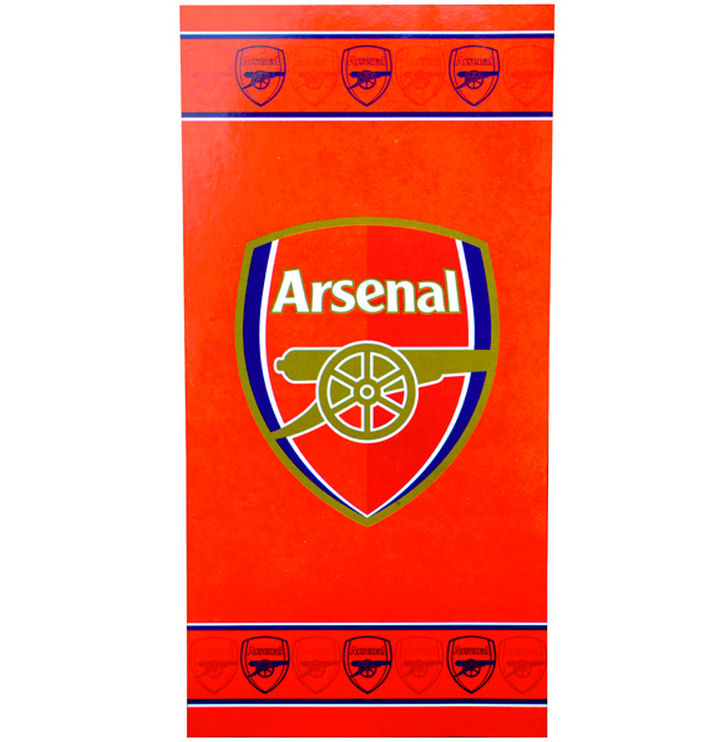 Sports Direct Arsenal Towel: Arsenal FC Crest Socks Black Size 6 12