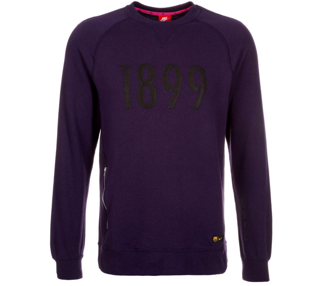 2016-2017 Barcelona Nike Authentic LS Crew Sweatshirt (Purple)