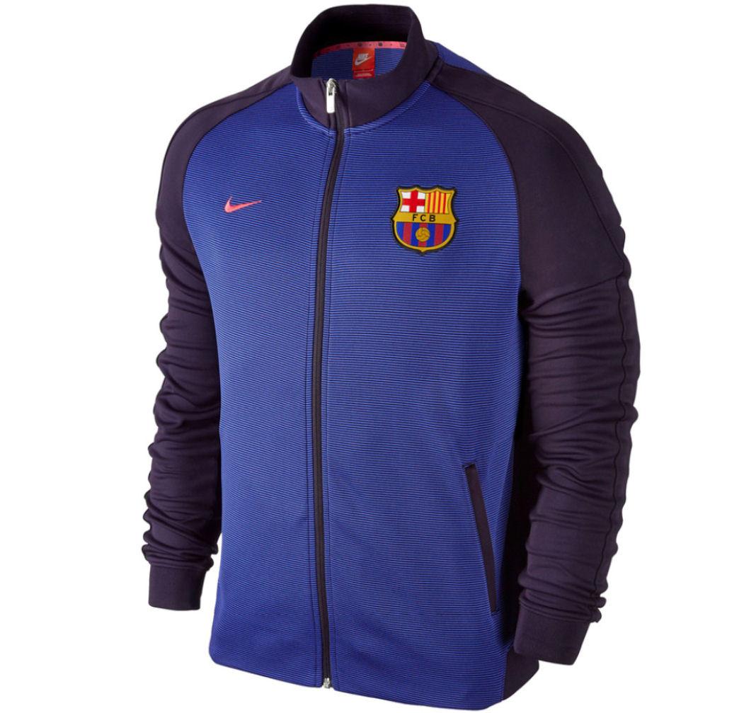 2016-2017 Barcelona Nike Authentic N98 Jacket (Purple)