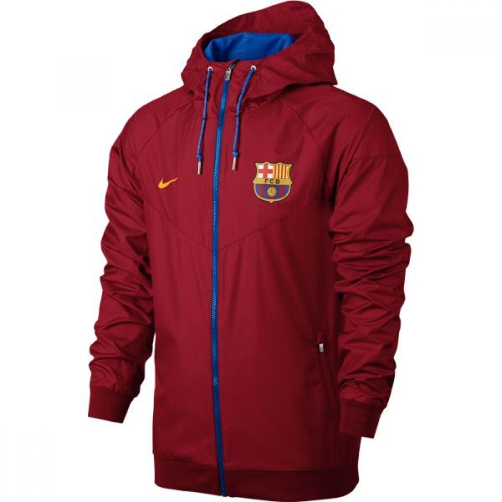 2016-2017 Barcelona Nike Authentic Windrunner Jacket (Red)