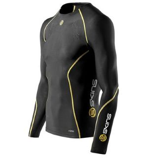 Skins A200 Long Sleeve Baselayer (black) - Kids