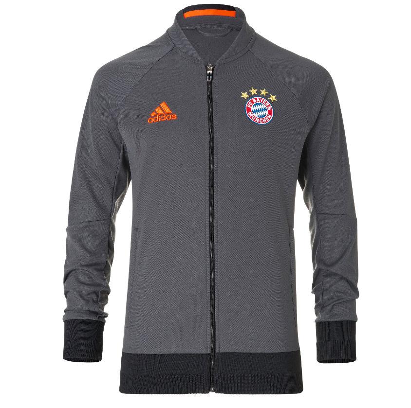 2016-2017 Bayern Munich Adidas Anthem Jacket (Solid Grey)