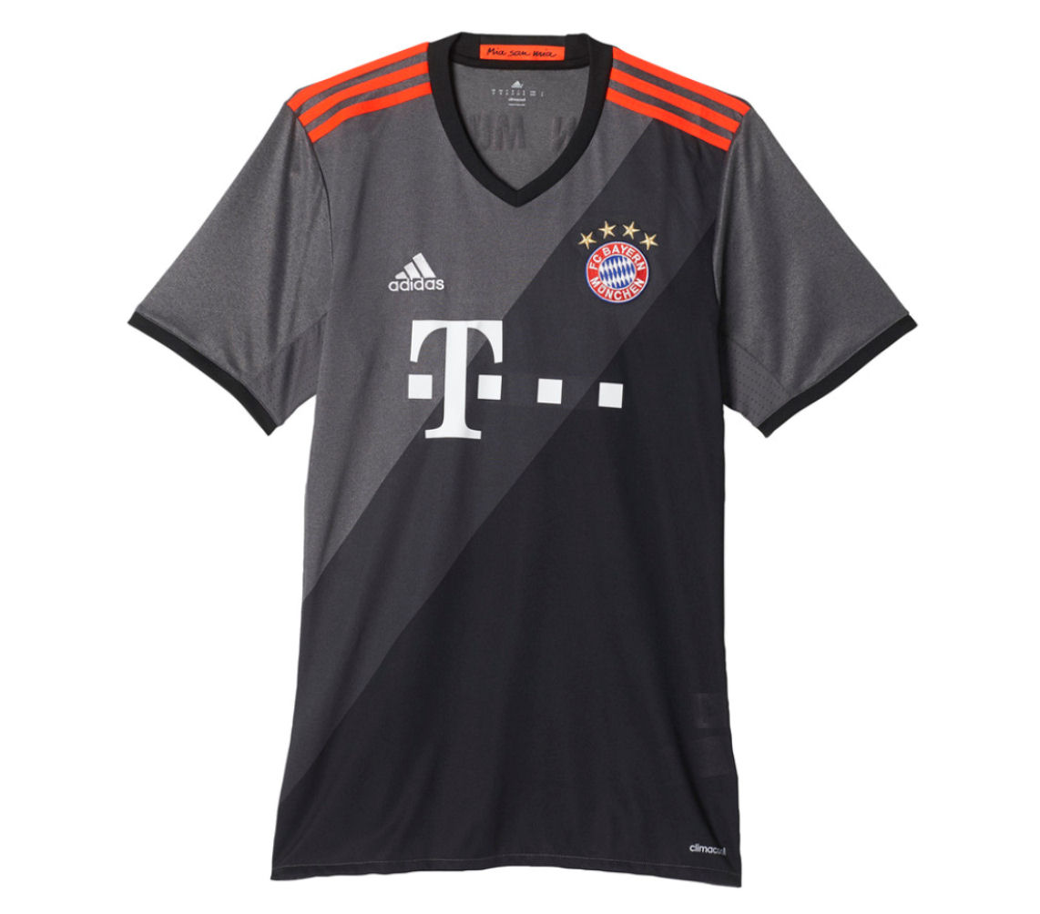 2016-2017 Bayern Munich Adidas Away Football Shirt