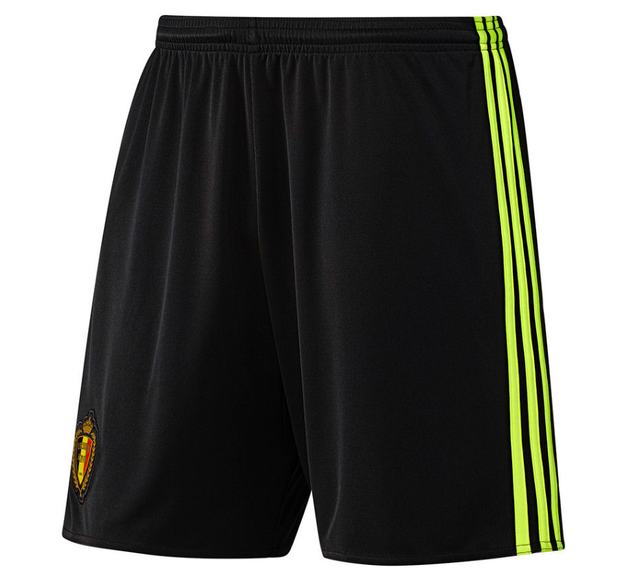 2016-2017 Belgium Home Adidas Football Shorts (Black)
