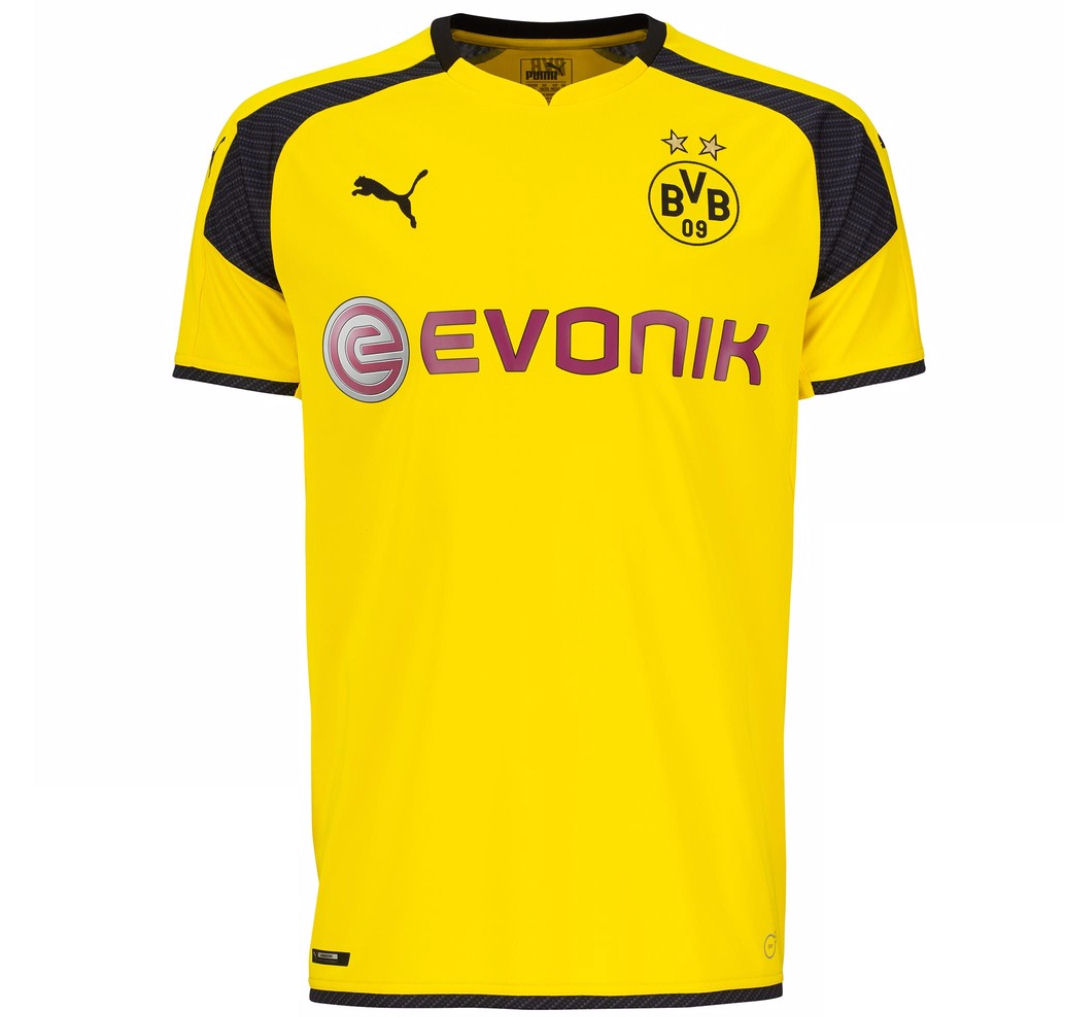20162017 Borussia Dortmund Puma UCL Home Football Shirt