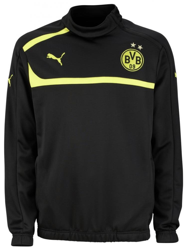 2012-13 Borussia Dortmund Half Zip Training Top (Black)