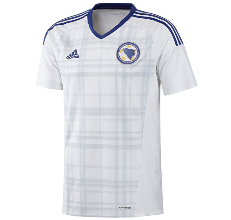 20162017 Bosnia Herzegovina Away Adidas Football Shirt (Kids)