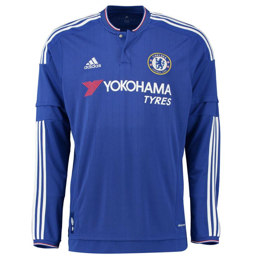 2015-2016 Chelsea Adidas Home Long Sleeve Shirt