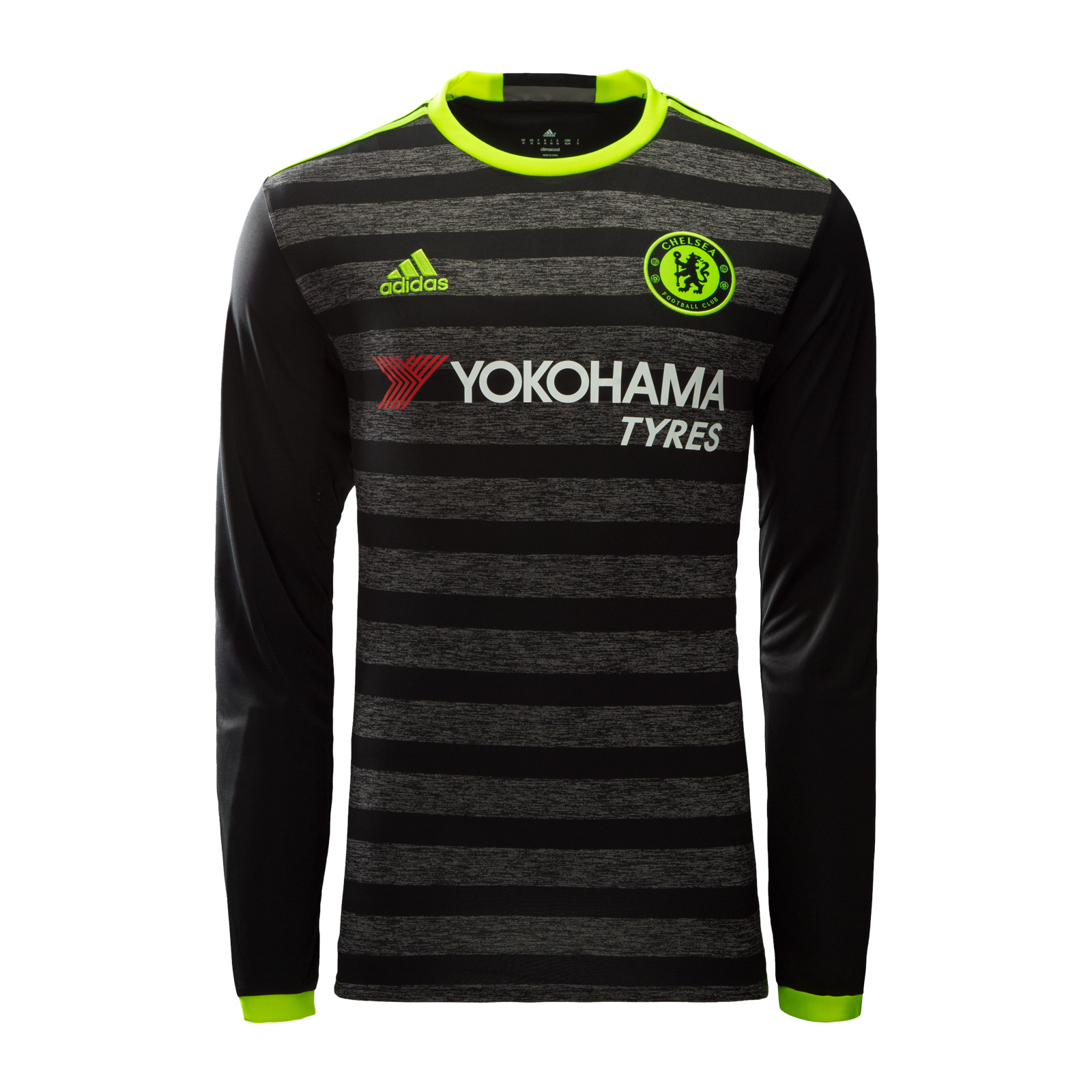 best service 7dc09 1d0fe black long sleeve chelsea jersey