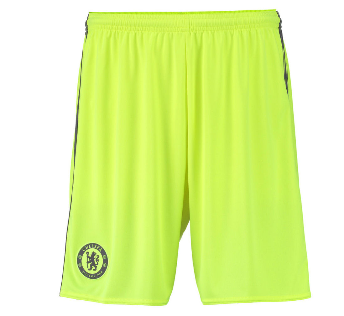 20162017 Chelsea Adidas Goalkeeper Shorts (Solar Yellow)