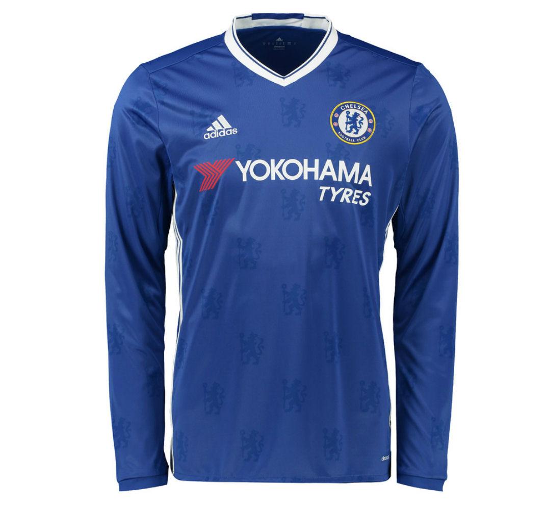 2016-2017 Chelsea Adidas Home Long Sleeve Shirt (Kids)