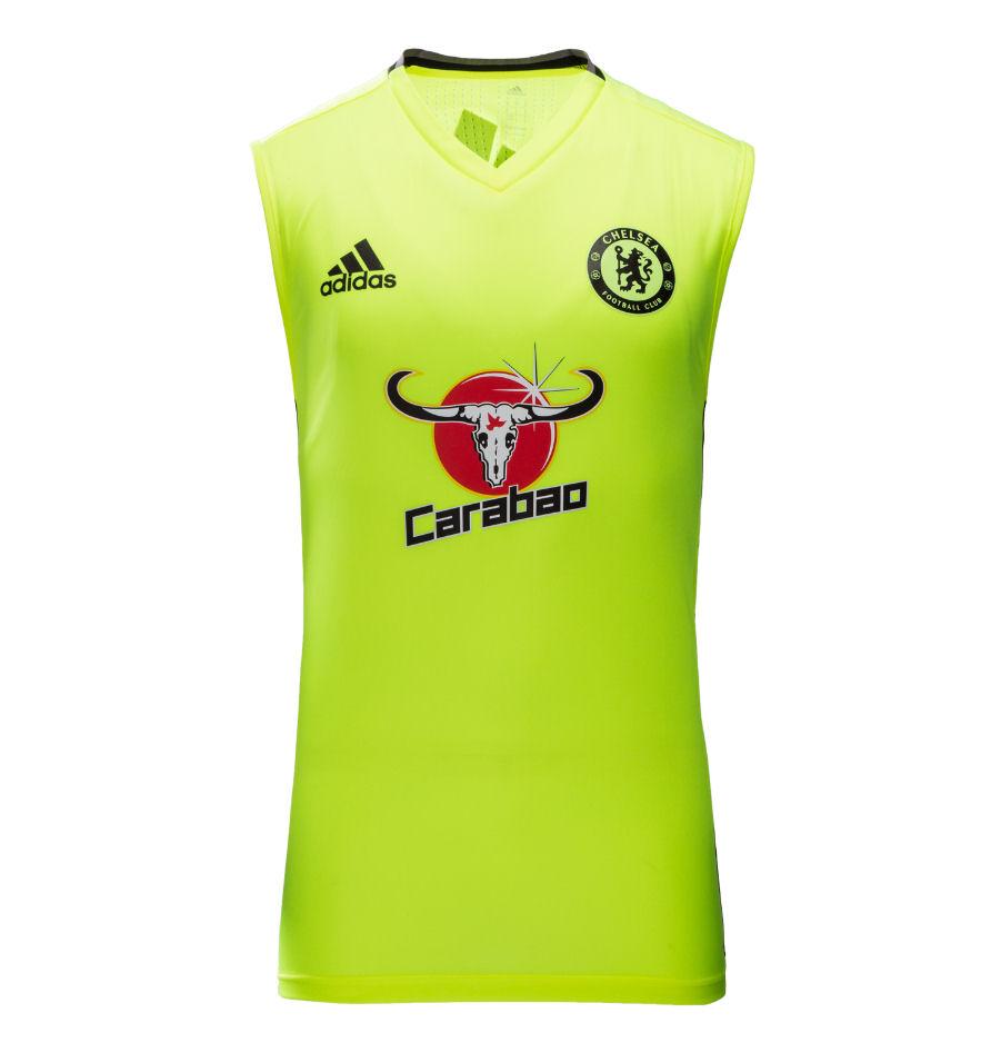 20162017 Chelsea Adidas Sleeveless Training Jersey (Yellow)