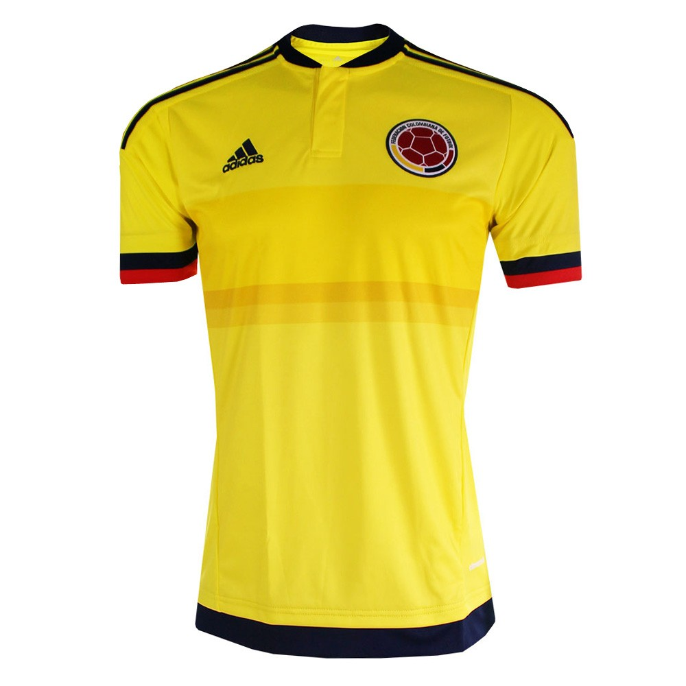2015 2016 colombia home adidas football shirt m62788 uksoccershop - Yellow Home 2016