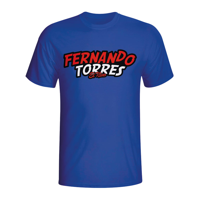 Image of Fernando Torres Comic Book T-shirt (blue) - Kids - XLB