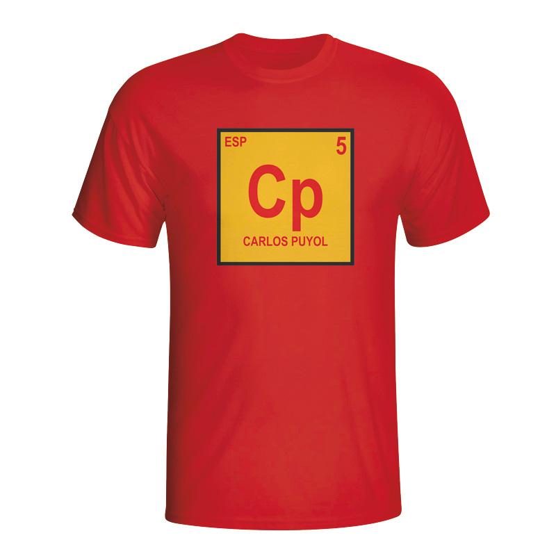 Carlos Puyol Spain Periodic Table Tshirt (red)  Kids