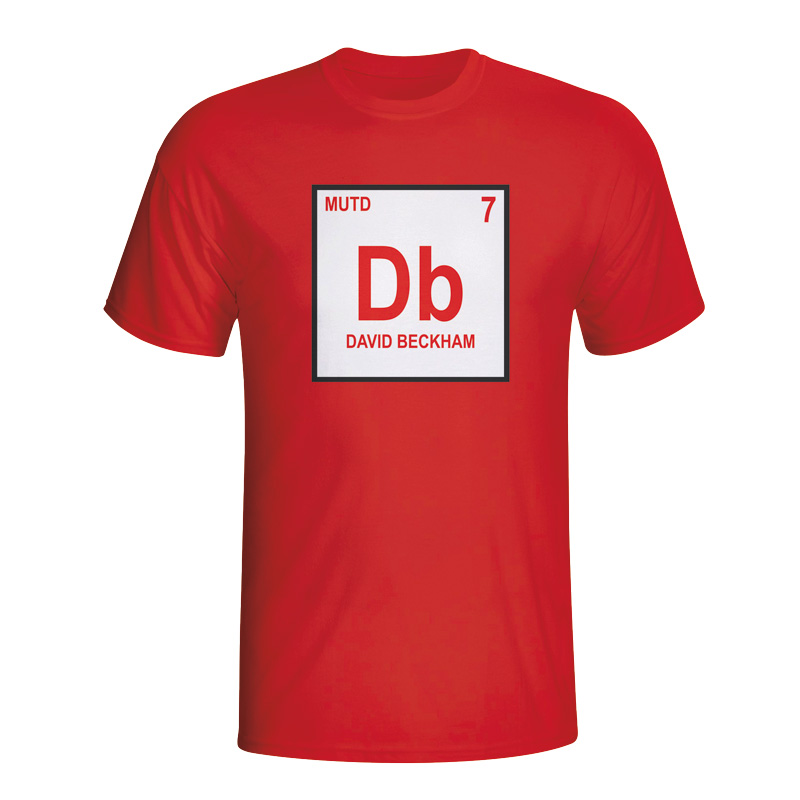 David Beckham Man Utd Periodic Table Tshirt (red)  Kids
