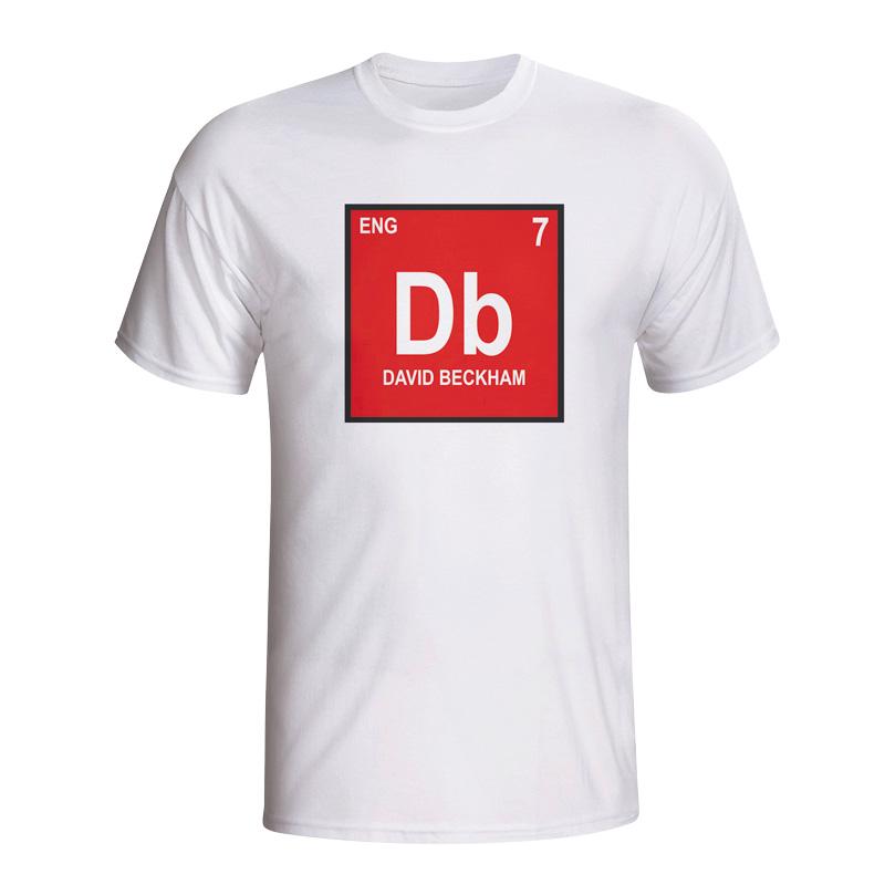 David beckham england periodic table t shirt white for David beckham t shirt brand