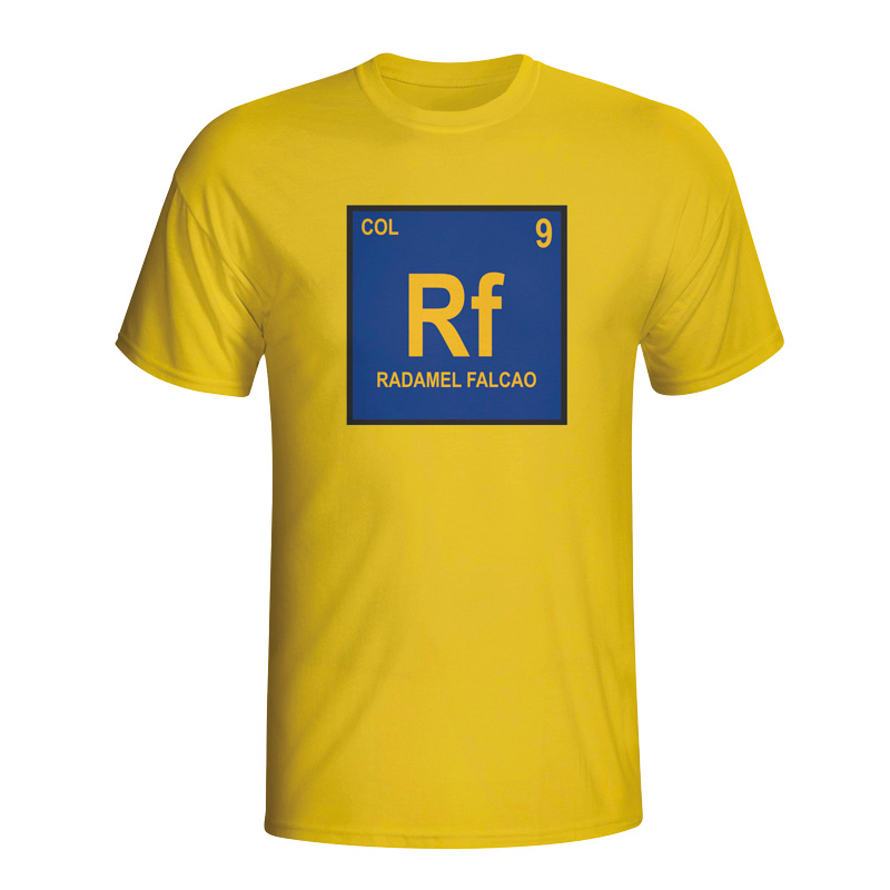 Image of Radamel Falcao Colombia Periodic Table T-shirt (yellow) - XXL