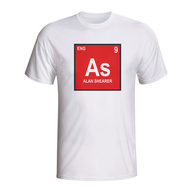 Image of Alan Shearer England Periodic Table T-shirt (white) - L