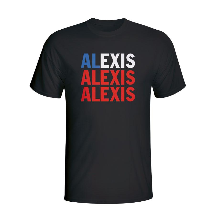 Alexis Sanchez Chile Player Flag T-shirt (black)