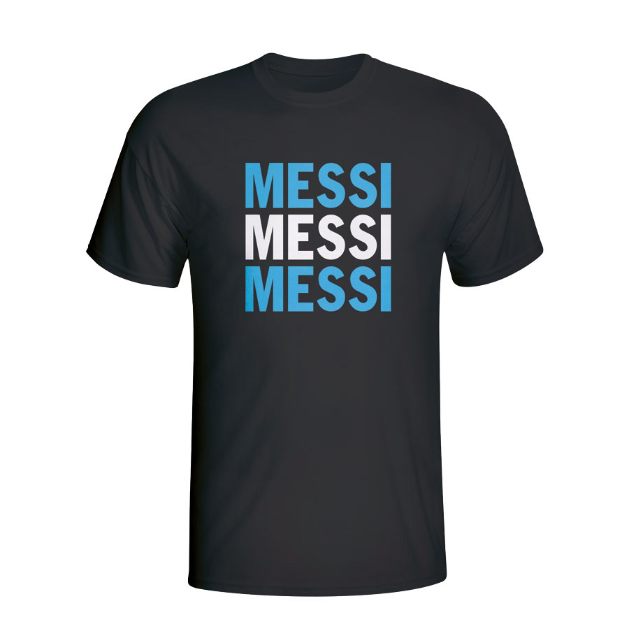 Lionel Messi Argentina Player Flag Tshirt (black)