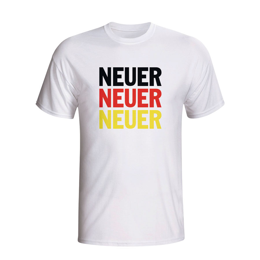 Manuel Neuer Germany Player Flag T-shirt (white)