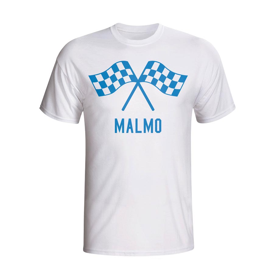 Image of Malmo Waving Flags T-shirt (white) - Kids - XSB