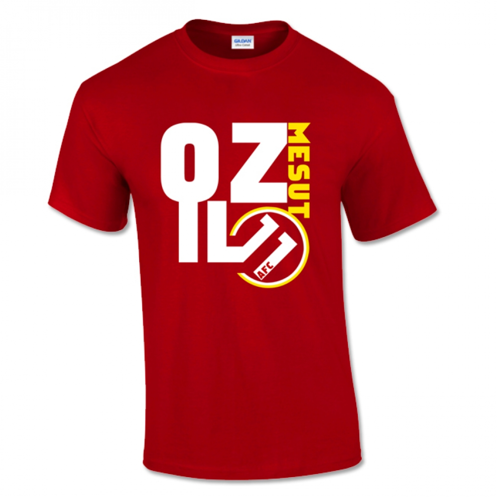 Mesut Ozil Arsenal Front T-Shirt (Red) [TSHIRTREDKIDS ...