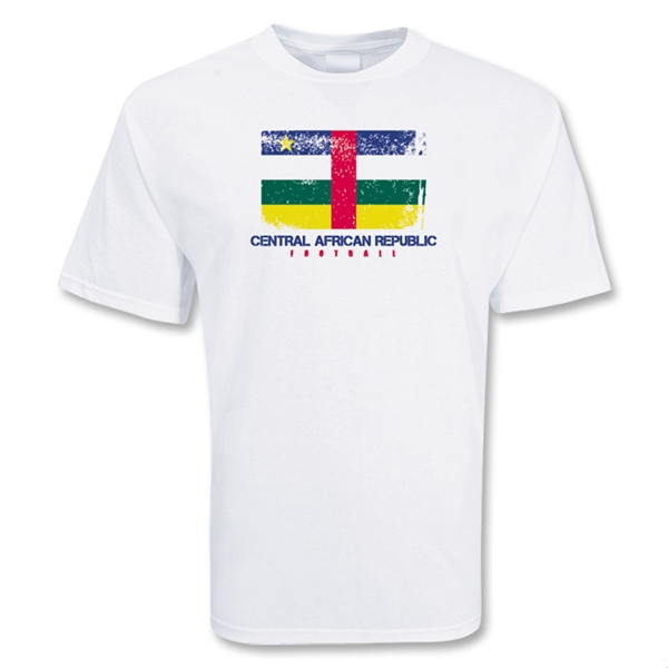 Central African Republic Football T-shirt (white)