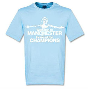 2012 Manchester City Welcome To Manchester T-Shirt (Blue)