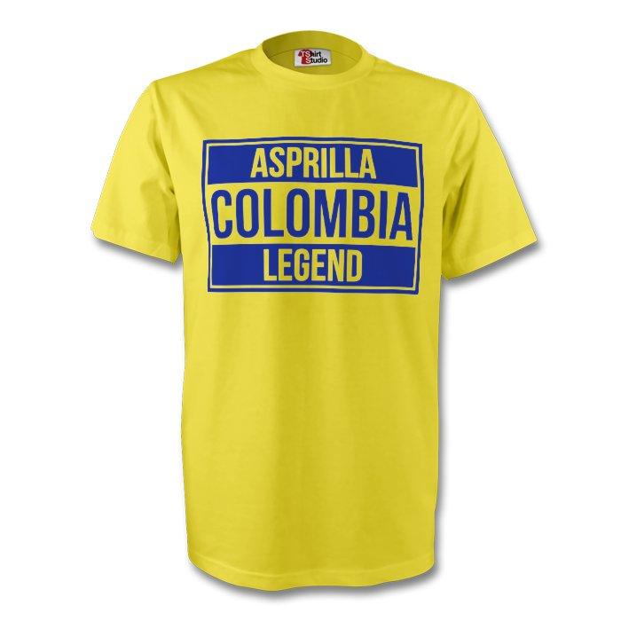 Faustino Asprilla Colombia Legend Tee (yellow) - Kids