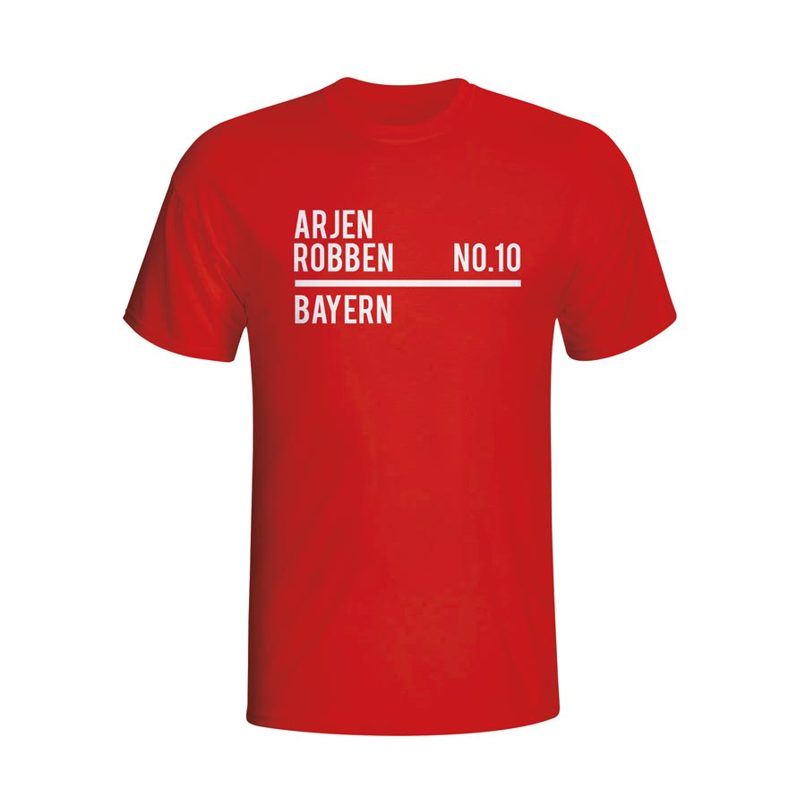 Arjen Robben Bayern Munich Squad T-shirt (red) - Kids