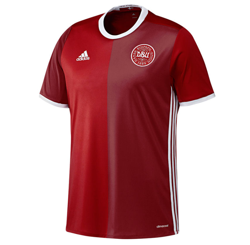 2016 2017 Denmark Home Adidas Football Shirt Kids