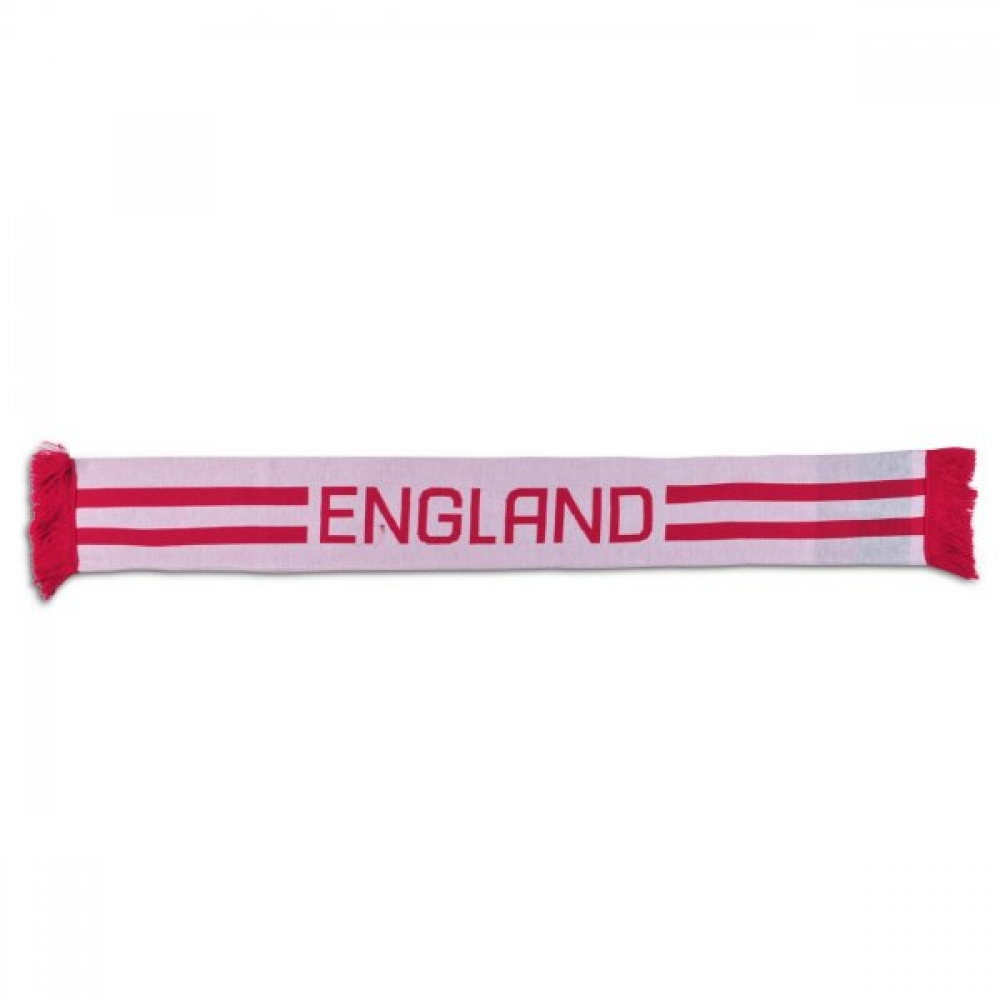 201314 England Acrylic Rugby Scarf (White)