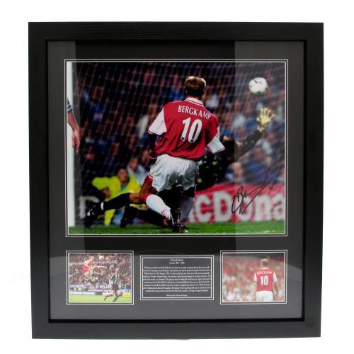 Arsenal F.C. Bergkamp Signed Framed Print
