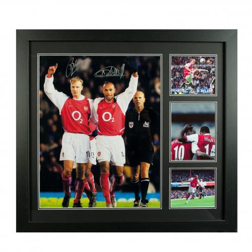 Arsenal F.C. Bergkamp & Henry Signed Framed Print