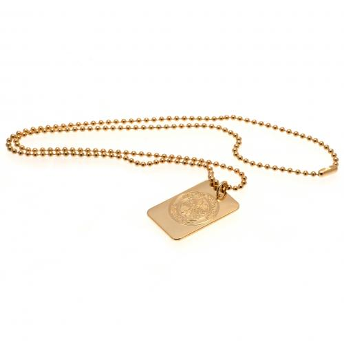 Celtic F.C. Gold Plated Dog Tag &ampamp Chain