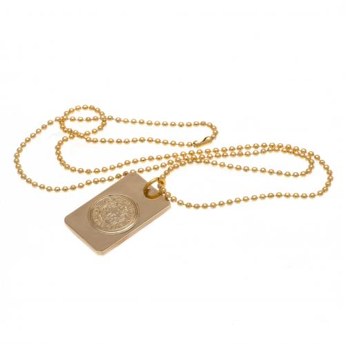 Leicester City F.C. Gold Plated Dog Tag &ampamp Chain