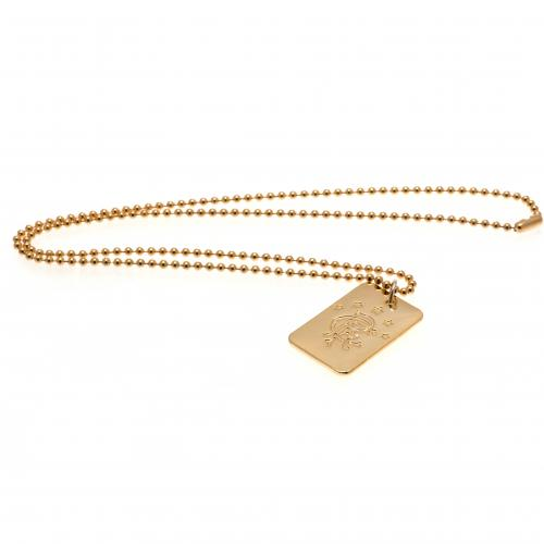 Rangers F.C. Gold Plated Dog Tag &ampamp Chain