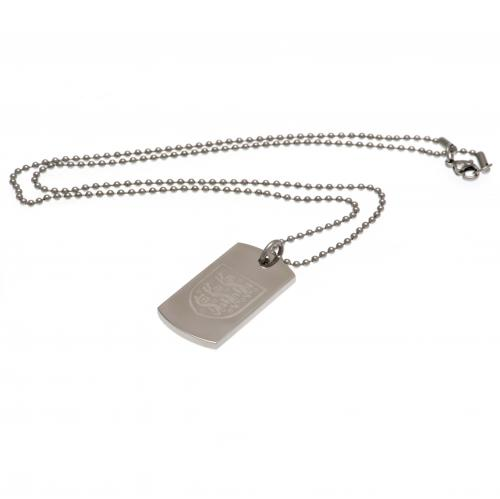 England F.A. Engraved Crest Dog Tag & Chain