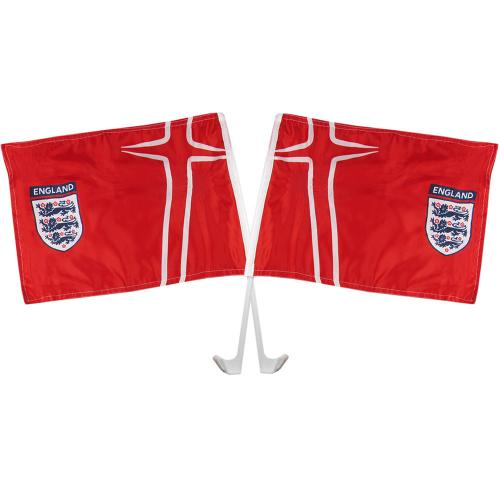 England F.A. Car Flag Twin Pack Away