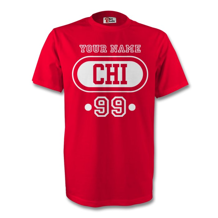 Chile Chi T-shirt (red) + Your Name