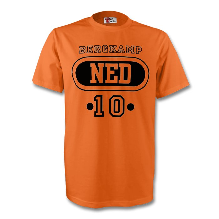 Dennis Bergkamp Holland Ned T-shirt (orange)