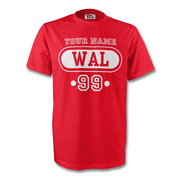 wales-wal-t-shirt-red-your-name-xl