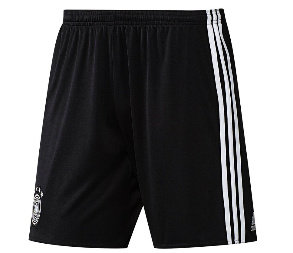 20162017 Germany Home Adidas Football Shorts (Black)