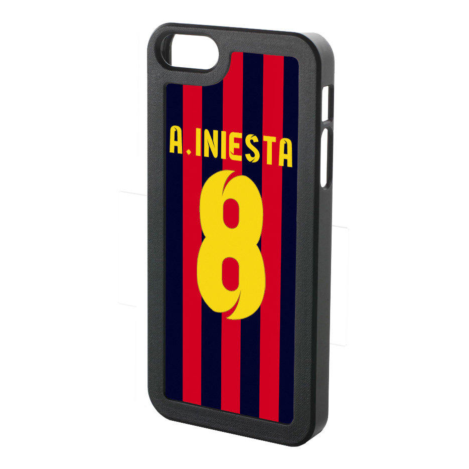 Andres Iniesta Iphone 4 Cover (red-blue-yellow)