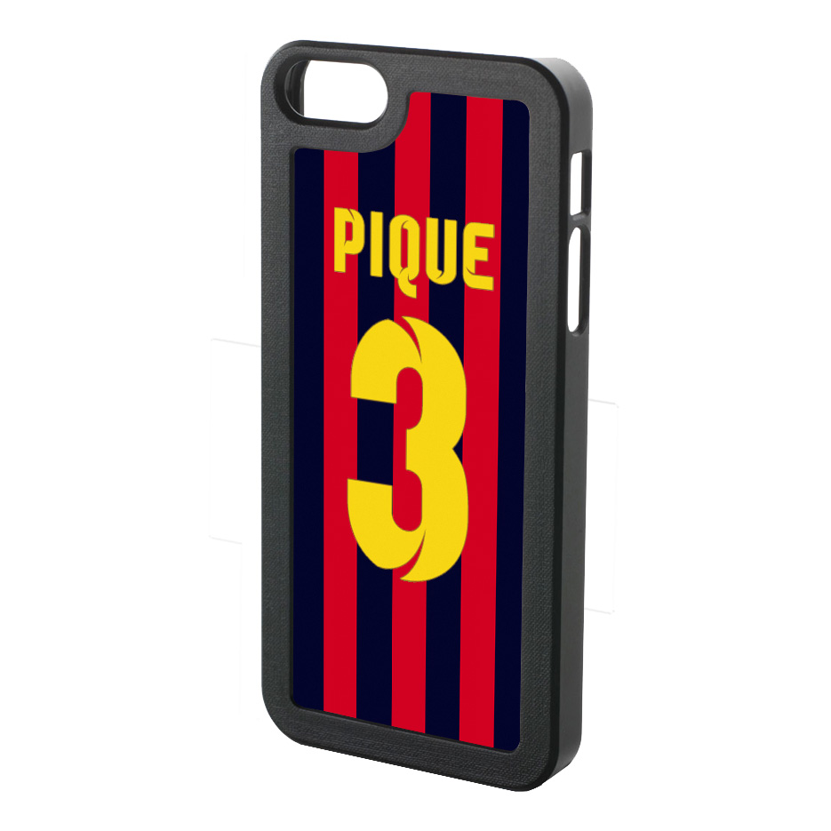 Gerard Pique Iphone 4 Cover (red-blue-yellow)