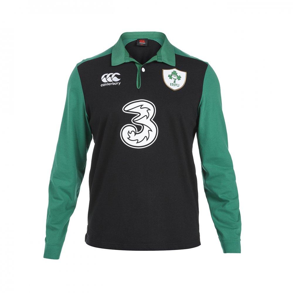 2015-2016 Ireland Alternate Classic LS Rugby Shirt (Kids)