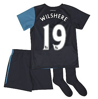 201112 Arsenal Away Little Boys Mini Kit (Wilshere 19)