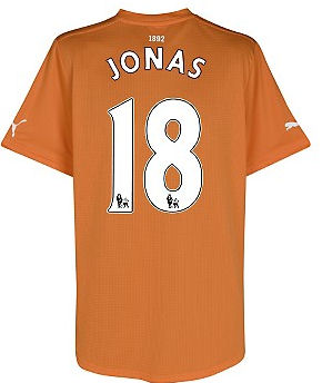 2011-12 Newcastle Puma Away Football Shirt (Jonas 18)
